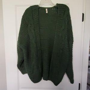 NWOT Dark Green knit sweater
